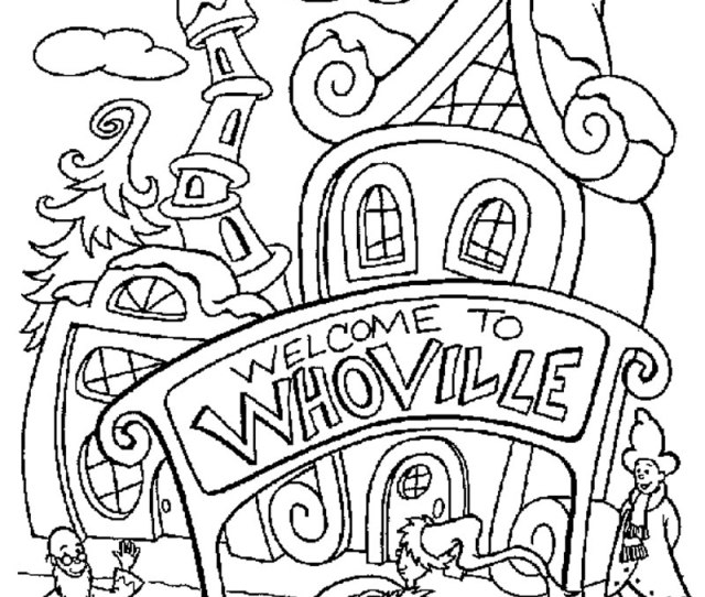 How The Grinch Stole Christmas Coloring Pages Free Printables To