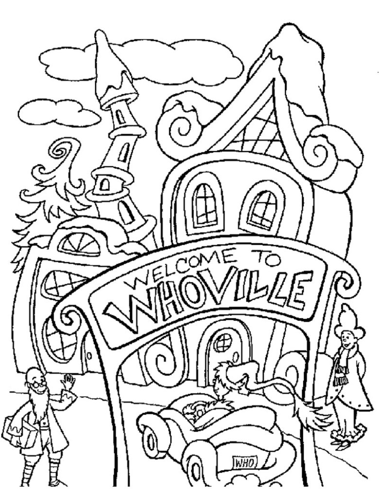 how the grinch stole christmas coloring pages - free printables to