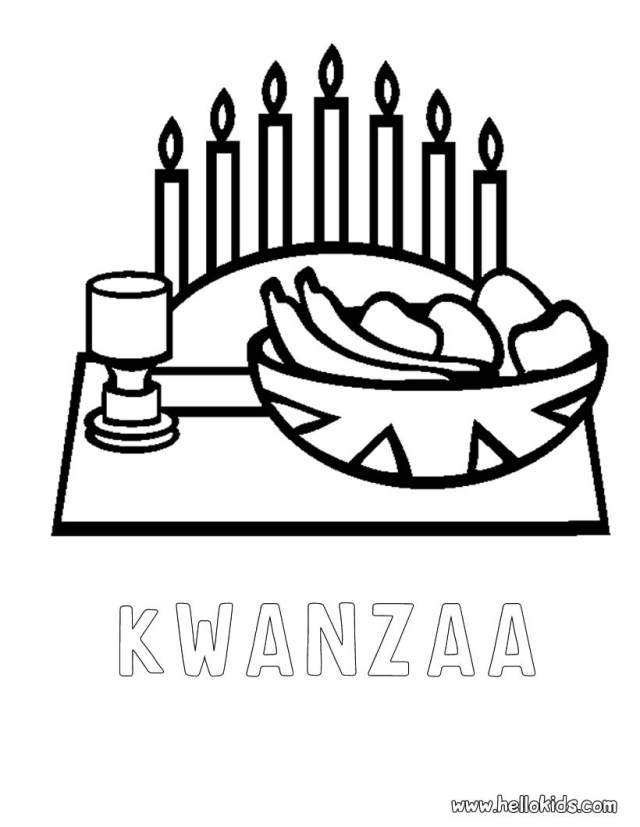 Happy kwanzaa coloring pages
