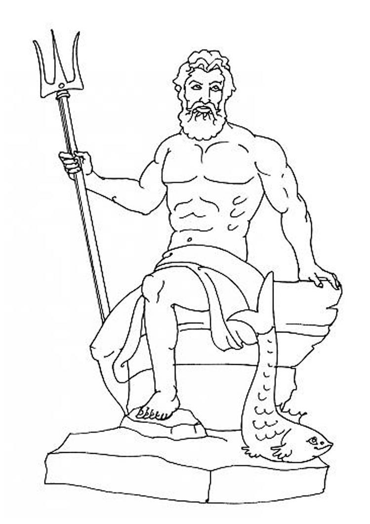 worksheet Greek Gods Worksheet greek gods coloring pages god poseidon