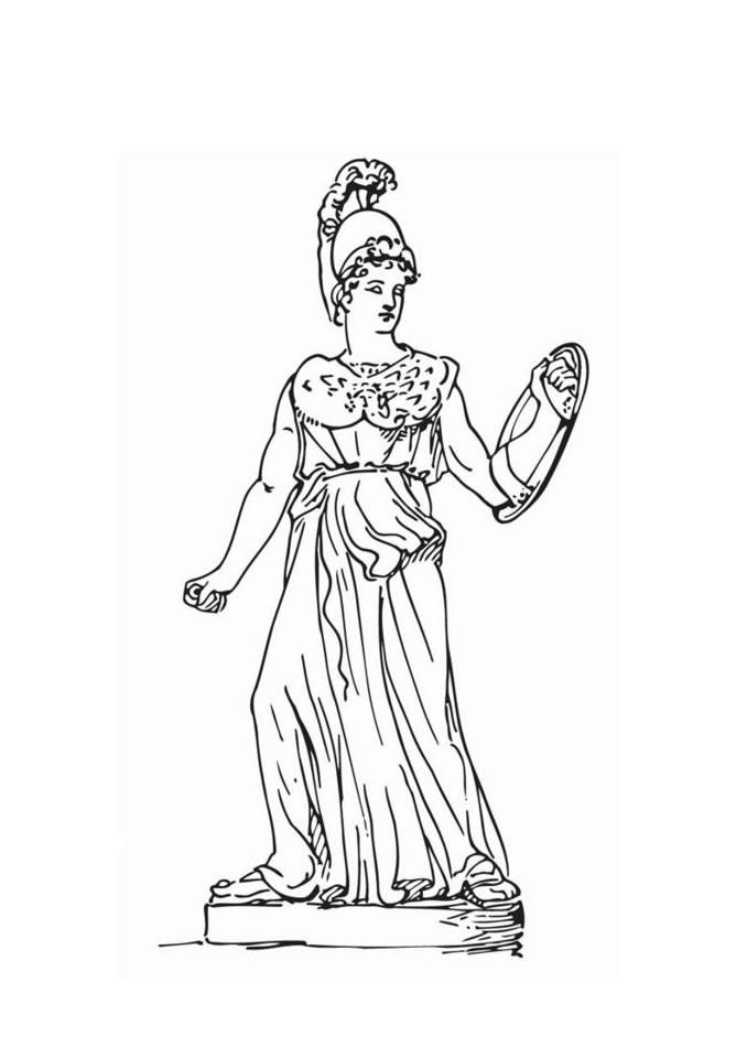 greek goddesses coloring pages goddess athena