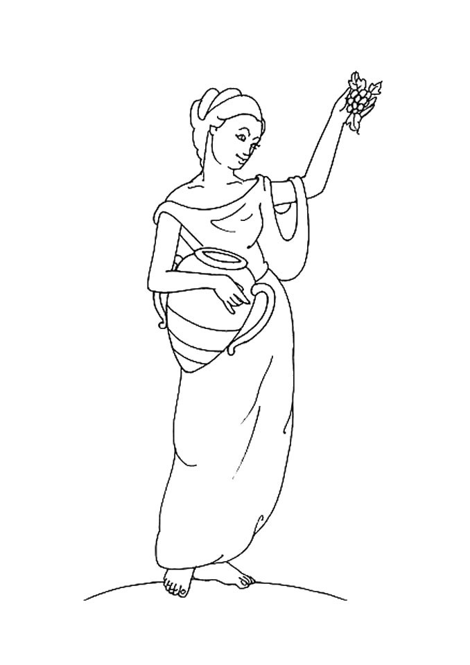 greek goddesses coloring pages goddess hestia