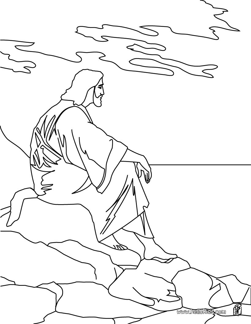 religious easter coloring pages jesus and the mount of olives