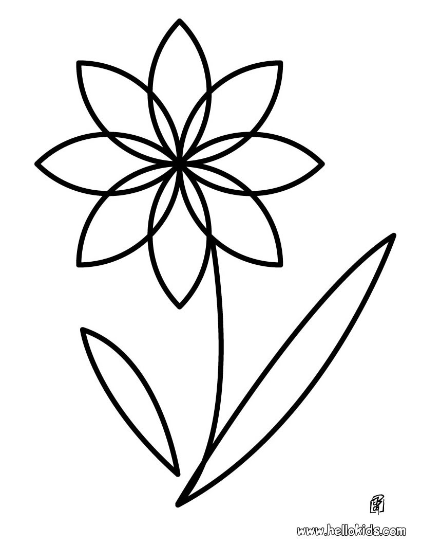 coloring pages for preschoolers flower