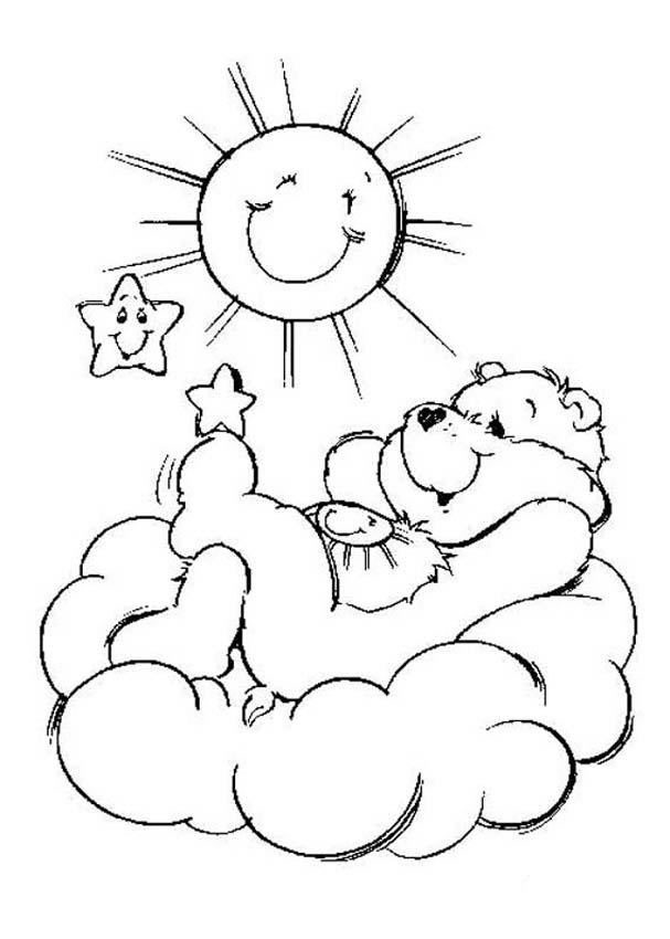 care bears coloring pages funshine bear