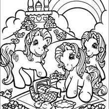 my little pony coloring pages rainbow in ponyland