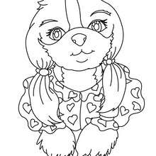 dog coloring pages dog in love