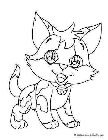 cat coloring pages kitten in cup
