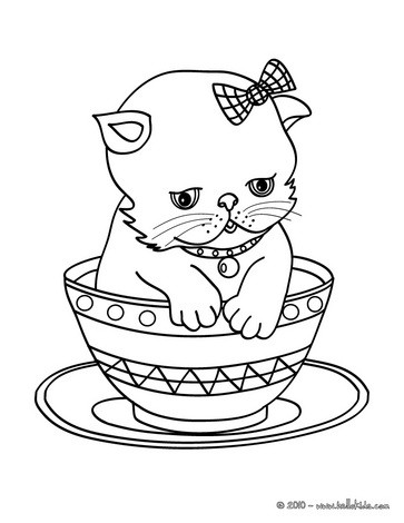 cat coloring pages cat family