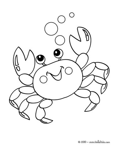 crab coloring pages crab