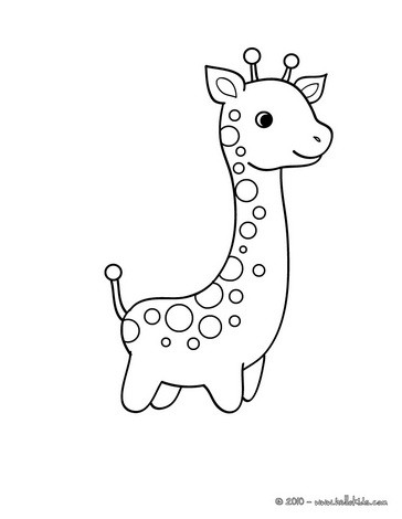 african animals pages cute giraffe
