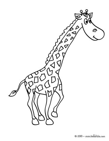 african animals coloring pages giraffe picture