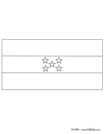 soccer team flags coloring pages flag of honduras