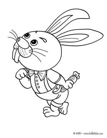 farm animal coloring pages rabbit