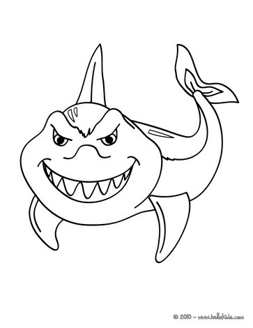 shark coloring pages shark picture