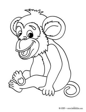 jungle animals coloring pages monkey picture