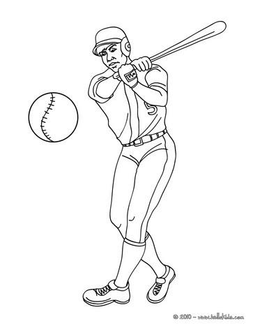 Baseball Batter Coloring Pages Hellokids Com