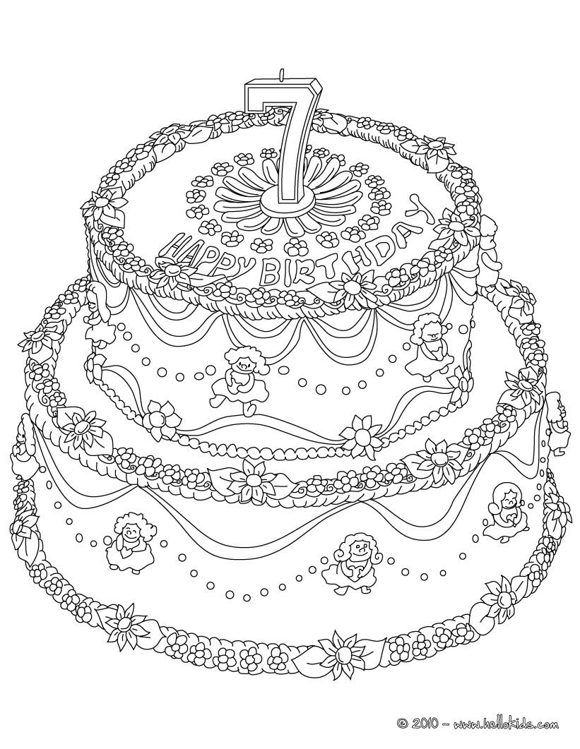 Birthday Cake Coloring Pages Coloring Pages Printable Coloring