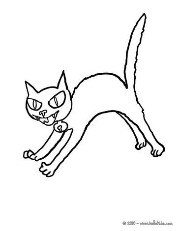 black cats coloring pages black cat