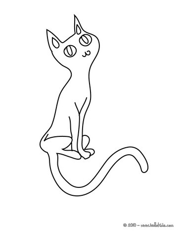 black cats coloring pages lovely black cat