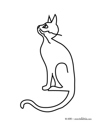 black cat coloring page # 11