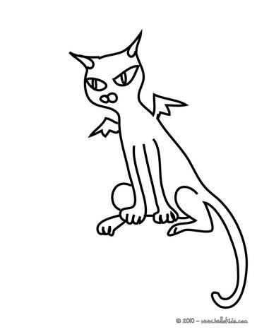 black cats coloring pages bat black cat