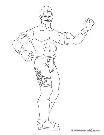 wrestling coloring pages wrestler john cena