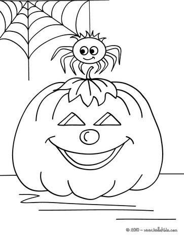 spider coloring pages tarantula and pumpkin