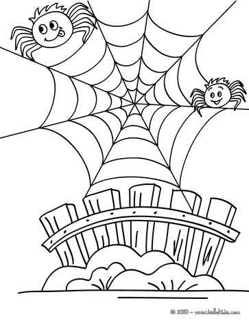 spider coloring pages humoristic spiderweb