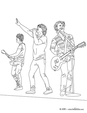 jonas brothers coloring pages jonas brothers