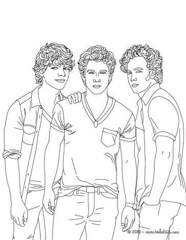 jonas brothers coloring pages jonas brothers picture