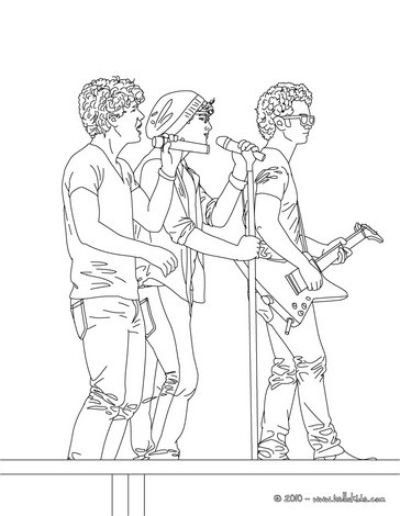 jonas brothers coloring pages jonas brothers singing