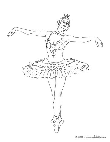 dance coloring pages ballerina performing a show