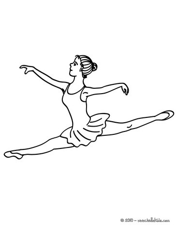 dance coloring pages ballerina performing a grand jete