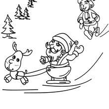 coloring pages of santa claus # 40