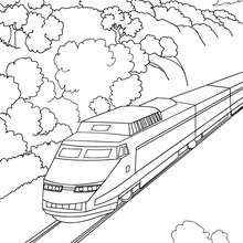 train coloring pages printable # 12