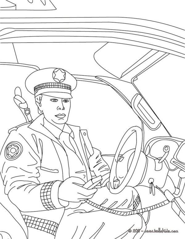 policeman coloring page # 8
