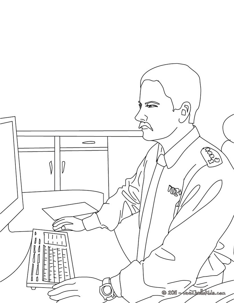 policeman coloring pages motorcycle police officer controlling