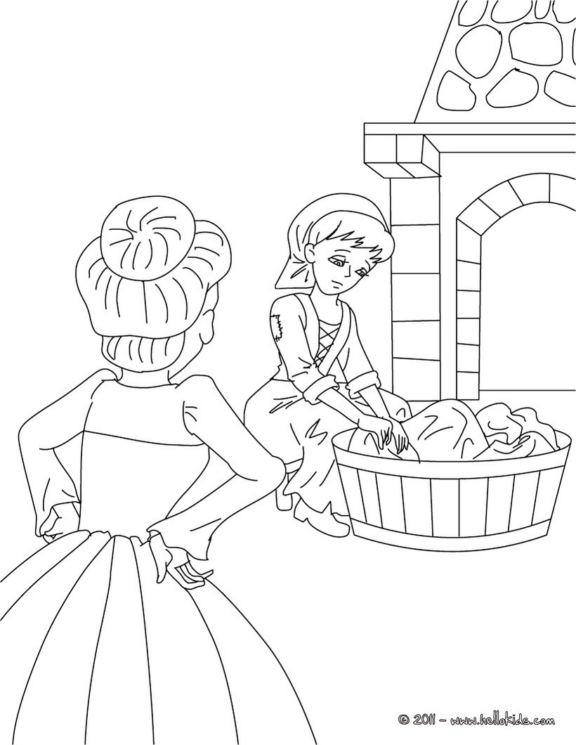 perrault fairy tales coloring pages cinderella fairy tale