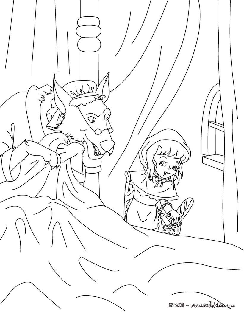 the little red riding hood fairy tale coloring pages