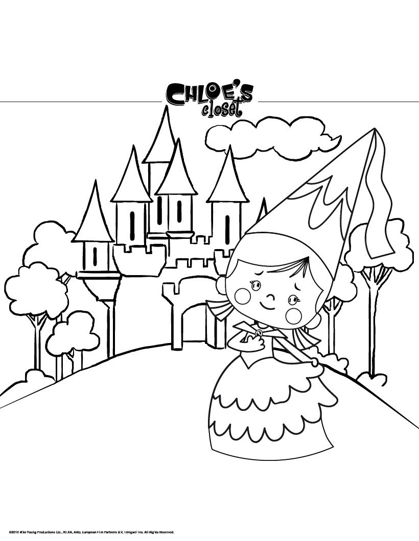 castle coloring pages free online games drawing for kids