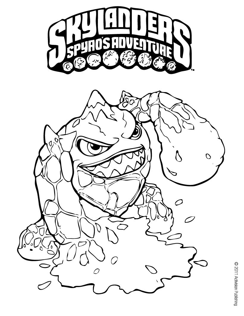 skylanders spyro 39 s adventure coloring pages eruptor