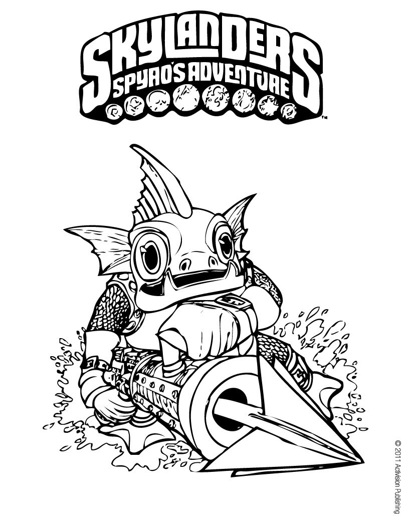 skylanders spyro 39 s adventure coloring pages gill grunt