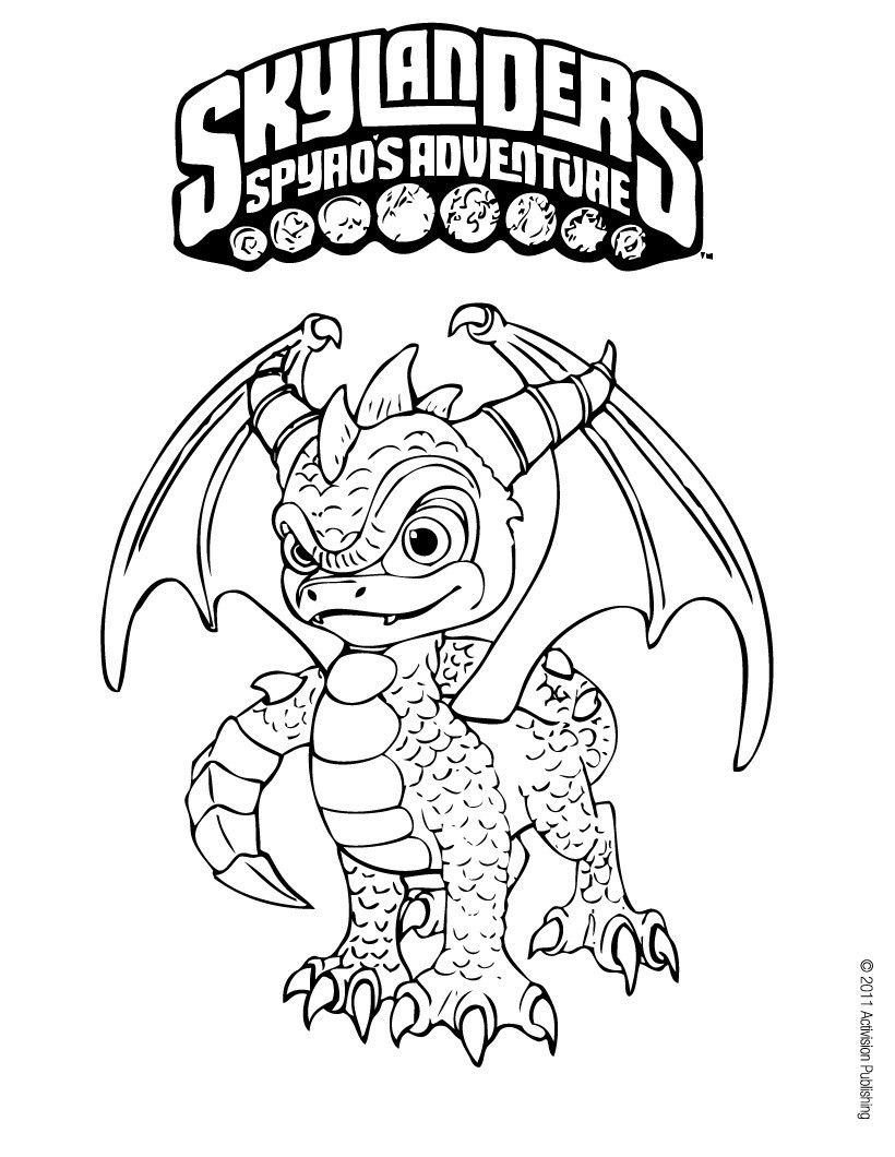 skylanders spyro 39 s adventure coloring pages spyro