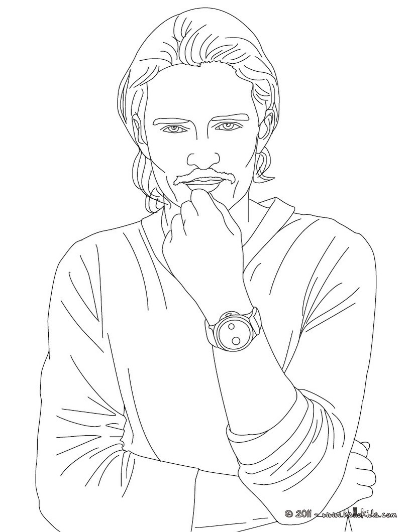 american celebrities coloring pages johnny depp