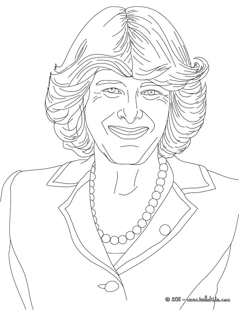 Princess Diana Of Wales Coloring Pages Hellokids