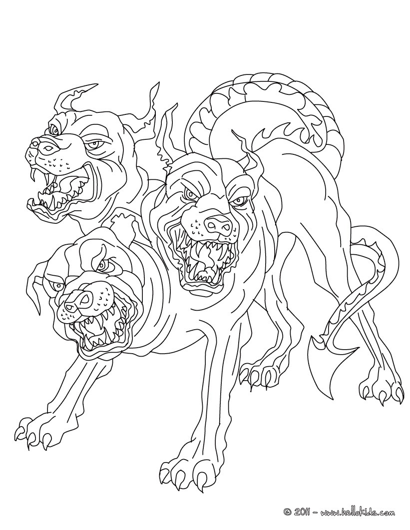 greek fabulous creatures and monsters cerberus the 3