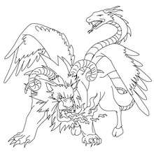 greek fabulous creatures and monsters coloring pages 18 free