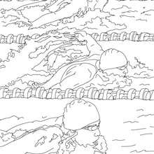 swimming coloring pages 7 free online coloring books