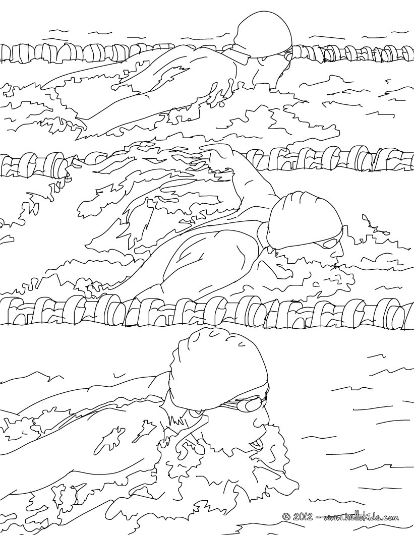 swimming coloring pages breaststroke swimming race